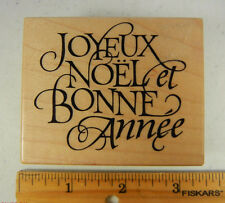Rubber Stamp PSX F1509 JOYEUX NOEL Merry Christmas Happy New Year French #3130