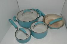 8 Piece Farberware New Traditions Blue Pot and Pan Set