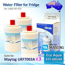 3xECO PURE EFF-6014A REPLACEMENT FOR Amana Maytag UKF7003AXX Fridge Water Filter