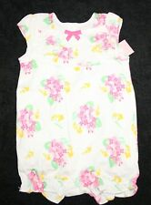 New Gymboree Pink Floral Ruffle Bubble Romper Outfit 3-6m NWT  Spring Dressy Col