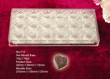 Magnetic Chocolate Mould...Professional...18  Heart Shaped Pieces... No.712
