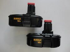 (2) DEWALT DC9098 18V 18 VOLT Ni Cad Battery Packs NEW 2015 DATE CODE X 2