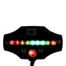 Car Motorcycle LED Battery Voltage Meter Indicator 12V Auto ATV Applications QT