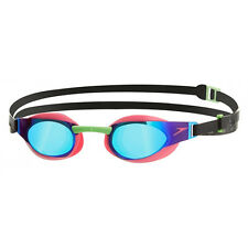 NEW Speedo Fastskin 3 Elite Mirror Goggles – Pink/Green Swimming