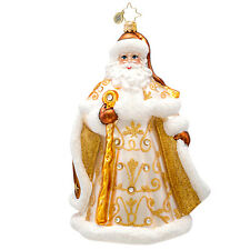 Christopher Radko - Golden Tidings - Jeweled Gold Santa Ornament 1017232