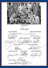 RANGERS FC 1972 EUROPEAN CUP WINNERS CUP FINAL SIGNED (PRINTED) x 13 OF THE TEAM