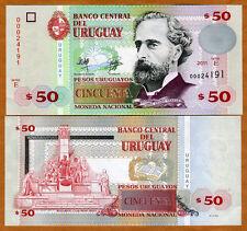 Uruguay, 50 Pesos Uruguayos, 2011, P-87-New. UNC