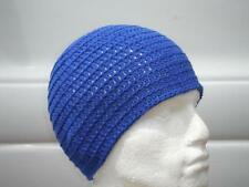 100% Wool Blue Beanie Hat Surf, Ski, Skater Rasta Tam By Irie Heights One Size