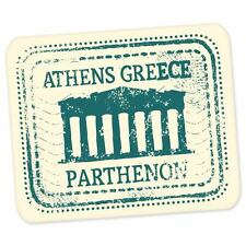 "Athens Greece travel car bumper window suitcase sticker 5"" x 4"""