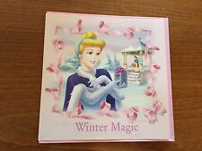 Disney Princesses Cinderella Themed Blank Christmas Greeting Card #2 - NEW