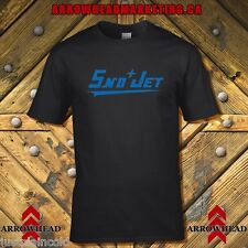 Sno-Jet vintage snowmobile style t-shirt with 60`s style logo black