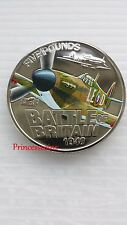 2010*UNC*BAILIWICK OF GUERNSEY BATTLE OF BRITAIN £5 FIVE POUND COIN