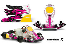 AMR Racing Graphics KG Freeline Birel Cadet Sticker Kits Decals CARBON X PINK