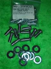20pc MOROSO 10 BOLT REAR END COVER CHROME BOLTS & WASHER BUTTON HEAD 5/16 x 3/4""