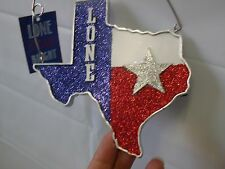 Texas Christmas Ornament ~ Wooden Texas Plaque w/Star St Nicholas Square