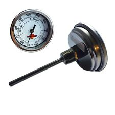 "LavaLock® 3"" INSULATED charcoal smoker pit grill Thermometer BBQ 4 in. Long Stem"
