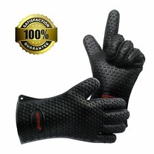 Homar Set of 2 Silicone Heat Resistant BBQ Grill Gloves Oven Mitts & Pot Holder