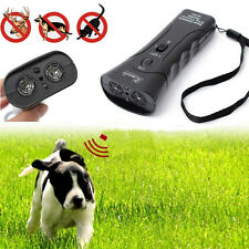 NEW Ultrasonic Dog Chaser Stops Aggressive Animal Attacks Repeller + Flashlight