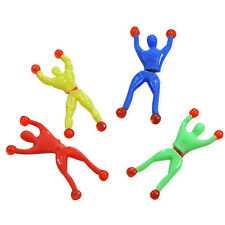 4 x STICKY MEN WALL WALKER TUMBLER TOYS BOY GIRL XMAS CHRISTMAS STOCKING FILLER