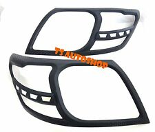 MATTE BLACK HEAD LIGHT LAMP COVER TRIM FOR TOYOTA HILUX VIGO CHAMP SR5 2011-2014
