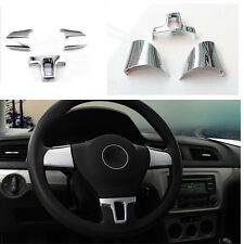 CHROME STEERING WHEEL COVER CAP VW GOLF 6 VI TOURAN TIGUAN POLO CADDY EOS JETTA