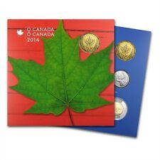 2014 Kanada Canada 5 Münzen Münzset Geschenk Set Stempelglanz Maple Leaf NEU