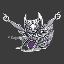 BRINGER OF LIGHTNING Fairy Art Silver Pendant & Chain By Jasmine Becket-Griffith
