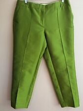$288 NWT J.CREW COLLECTION Green Cafe Capri In Pintucked Heavy Silk Shantung 10