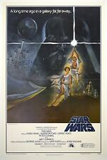 STAR WARS 1977 Original Movie Poster Style A Linen Back FIRST PRINT NSS 77/21-0