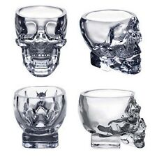 New Crystal Skull Head Vodka Whiskey Shot Glass Cup Drinking Ware Home Bar TR