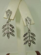 VINTAGE STERLING VERMEIL MARCASIT DANGLE EARRINGS! MINTY!
