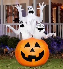 6' X 4' Ghost Trio Halloween Decoration gemmy airblown inflatable