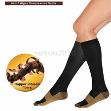 Unisex Copper Compression High Socks Anti-Fatigue Support Pain Relief Stockings