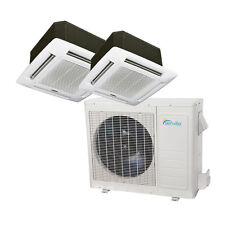 27000 BTU Dual Zone Ductless Mini Split Air Conditioner - Ceiling Cassette