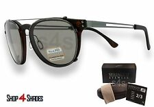 Serengeti Palmiro Clip on Sunglasses Gunmetal_Satin Dk Torte_Polarised CPG 8055