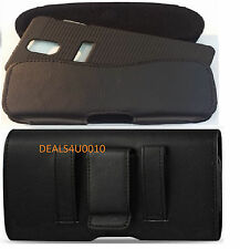 XL LEATHER BELT CLIP HOLSTER POUCH FOR SAMSUNG GALAXY NOTE 4 FIT HARD CASE ON