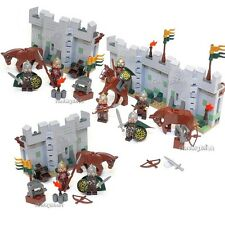 4x Lego Fortress Wall Eomer & Rohan Soldiers Lord of the Ring NEW (No Box 9471)