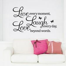 Pegatina de Paredes Vinilo Decorativo Hogar Decoración PVC-Love Laugh Live