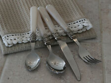 16 Piece Cutlery Set Vintage Chic Style French Grey / Cream Mother of Pearl