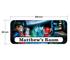 Lego Superhero Batman Superman Personalised Childrens Bedroom Door Plaque Sign