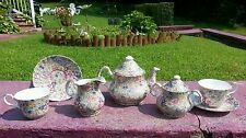 Amazing Tea Set for Two by Chintz Flora design made in Staffordshire England