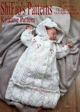 KNITTING PATTERN for BABY SLEEPING BAG 0-3MTHS, 3-6MTHS  #151 by ShiFio patterns