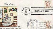VAN NATTA  $5 BRET HARTE DUAL CANCELLED HAND PAINTED HP FIRST DAY COVER FDC
