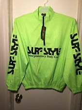 Brand New Lime Neon Neon Surf Style Interplanetary Body Gear windbreaker jacket