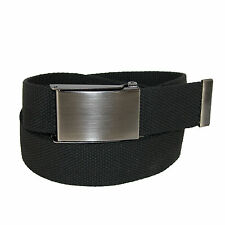 New CTM Mens Web Money Belt with Military Buckle