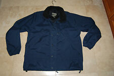 Navy Blue Water Resistant FIELD & STREAM Zip & Snap Front Jacket Large