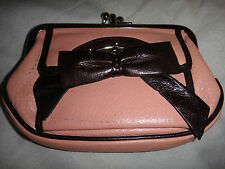 DKNY Pink Leather Bow Purse RARE!!!!