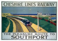 201 Vintage Railway Art Poster Southport   *FREE POSTERS