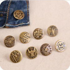 10 Sets Mix Style No Sew Replacement Repair Metal Studs Jean Pants Button 20MM