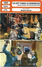 Fiche Cinéma. Movie Card. Les sept femmes de Barberousse (USA) 1954